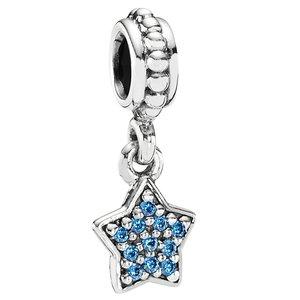 PANDORA étoile avec zircones bleues