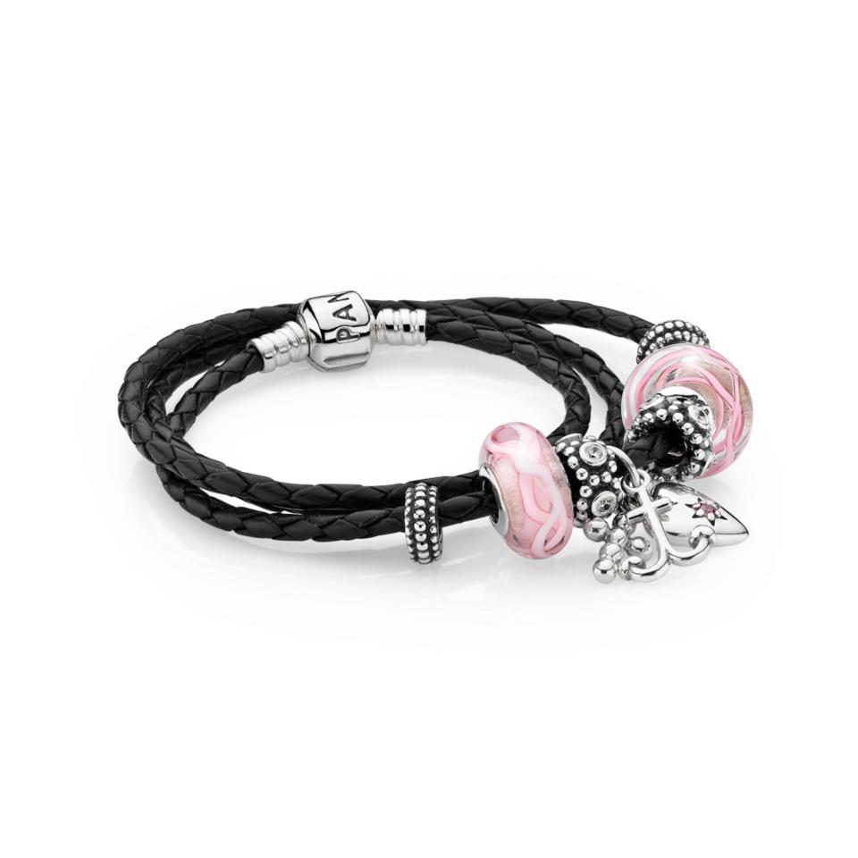 bracelet pandora cuir femme